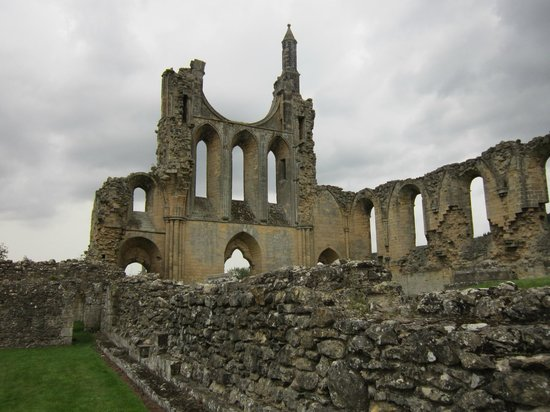 Byland Abbey under a Constable sky.