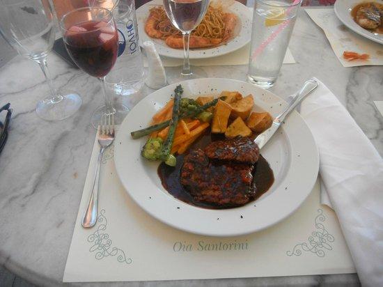 Kastro Oia Restaurant: Medallones de Res