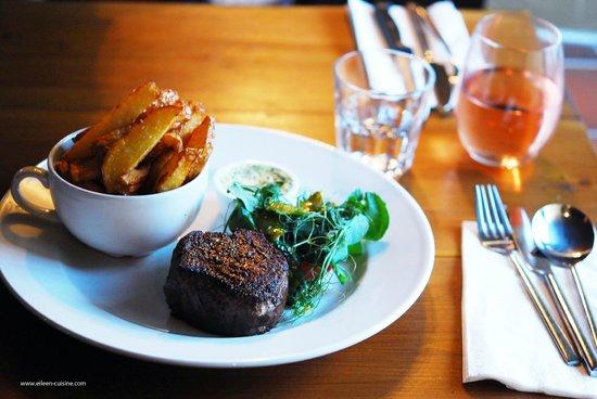 Back Street Bistro: Steak with herb butter sauce