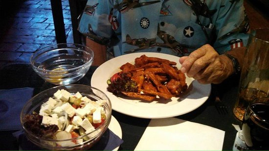 Wings Club: Best Buffalo wings, great Greek salad, good red wine and of course, Pilsner