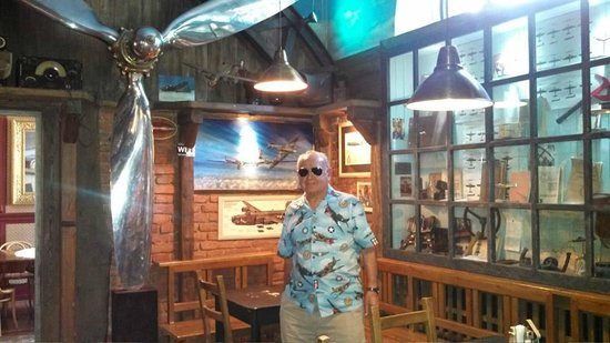 Wings Club: My father with his Flying Tigers sport shirt fit right in!