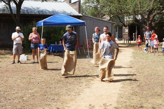 Taylor County History Center: Sack Race