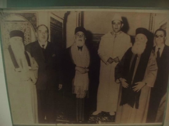 Museum of Moroccan Judaism : rabbis and the young king, back in the day