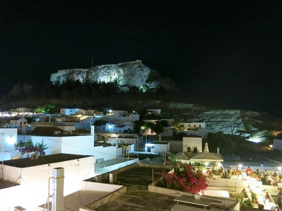 Lindian Jewel Exclusive Apartments: Lindos at Night