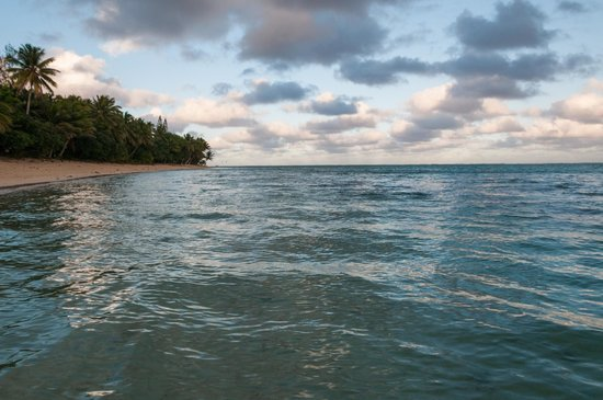 Titikaveka Beach: June Sunset Looking East