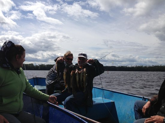 Auld Reekie Lodge: Our score from Stumpy Lake! First time for us catching walleye