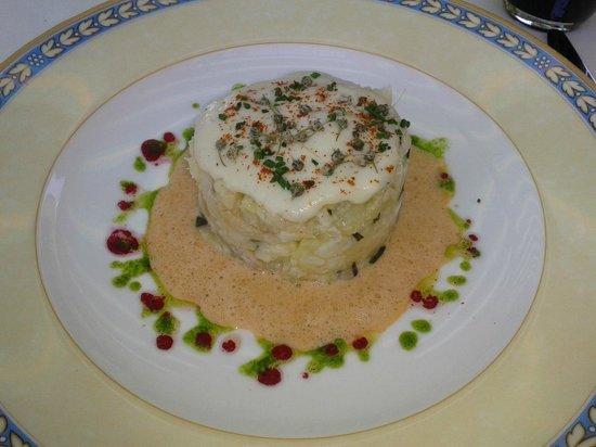 Les Agapes : brandade de merlu et pommes de terre au basilic