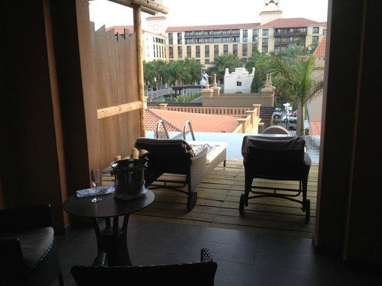 Lopesan Baobab Resort : Vista del Hotel Costa Meloneras desde la habitación