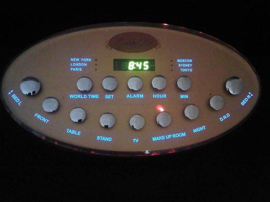 GrandBee Suites: room control panel