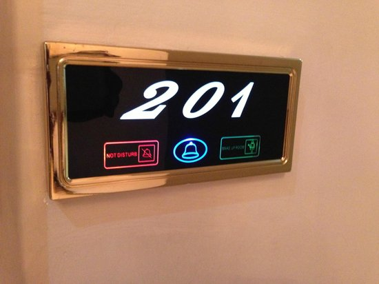 GrandBee Suites: room number panel