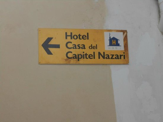 Casa Cuesta del Agua: The sign to look for