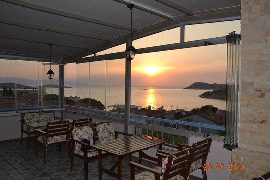 Foca Erguvan Hotel: Teras