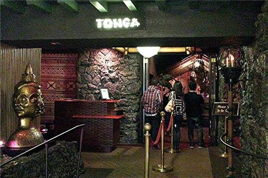 Entrance to the Tonga Room in the Fairmont Hotel