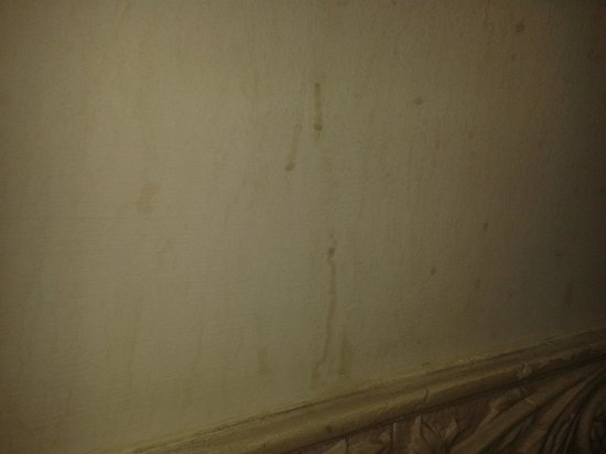 Whiston Hall Hotel and Golf Club: Dirty walls in shower