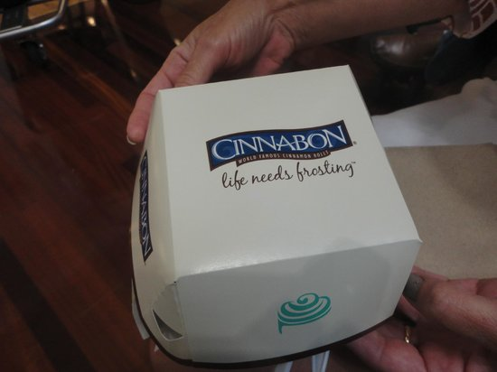 Cinnabon: Ideal para llevar