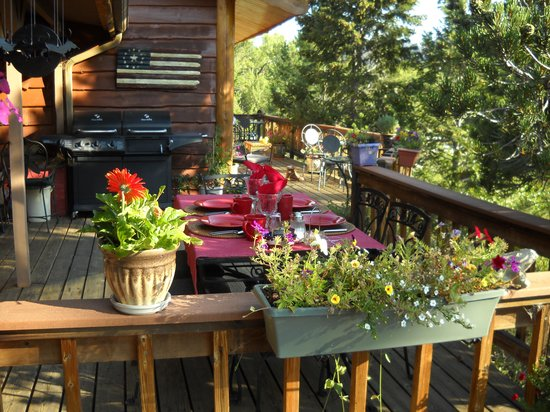Mountain River Inn Bed & Breakfast: Deck view