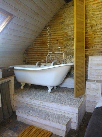 Appartements d'Hôtes Le Jeu et La Gourmandise : baignoire