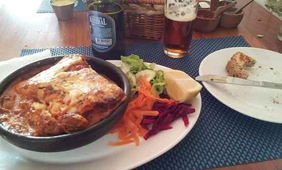 ecole!: Lasagna vegetariana del día.