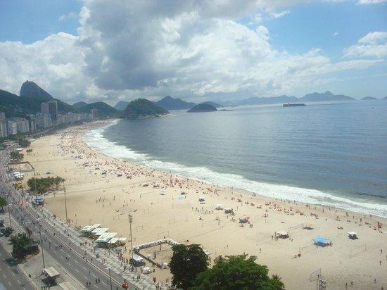 Pestana Rio Atlantica: Vista de Copacabana na Cobertura do Pestana Rio Atlântica