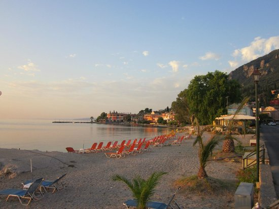 Benitses, Greece: Beach in the early morning