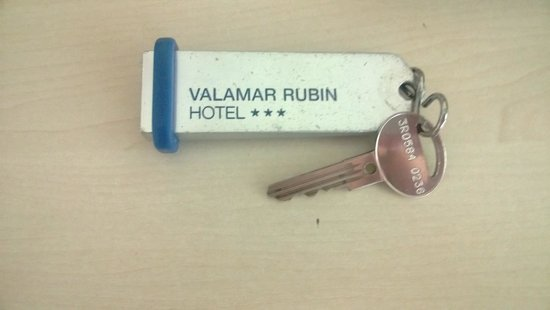 Valamar Rubin Hotel: the key - tells the story:) doors not new:)