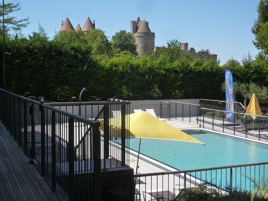 Mercure Carcassonne La Cité hotel : Vue de notre chambre