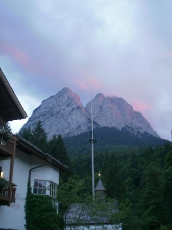 SENTIDO Zugspitze Berghotel Hammersbach: looking from front of hotel - magnificent!