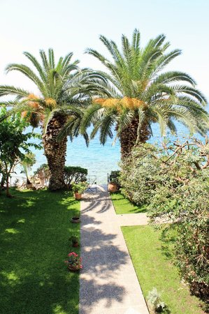 Hotel Theoxenia: Κήπος δίπλα στην θάλασσα