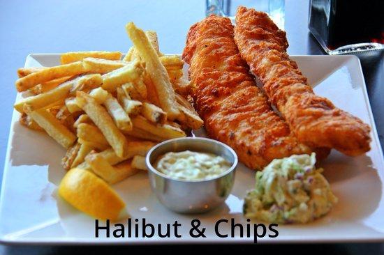 Chung's Fish & Chips: 2 pcs Halibut