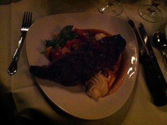 The Belvedere Inn : NY Strip Steak