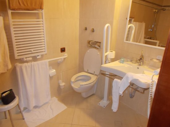 Grand Hotel Adriatic: Bathroom in handicap room