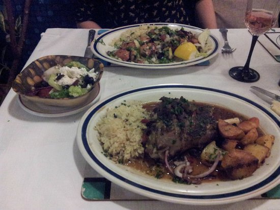 Athens Greek Restaurant & Steakhouse: Lamb Shank and Chicken Skewers