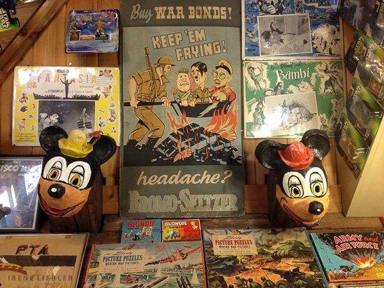 Fawcett's Antique Toy and Art Museum: Post-war memorobilia