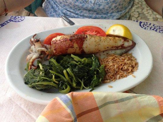Elena: Grilled calamari