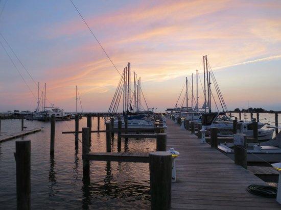 The Inn at Osprey Point: Sunset over the marina