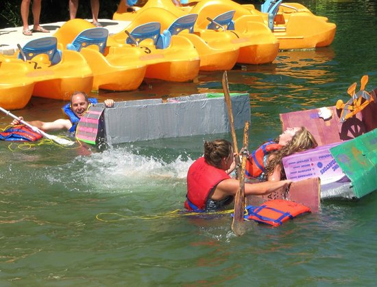 Windmill Point Park & Campground : Windmill is now hosting annual Card Board Boat Races