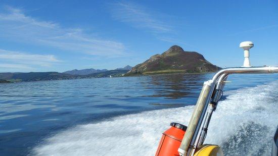 Ocean Breeze Rib Tours: leaving Holy Island