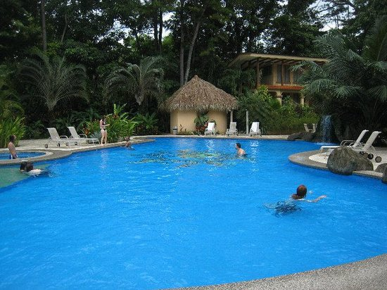 DoceLunas Hotel, Restaurant & Spa: This is pool side during a party my group threw upo arrival, which is tradition... PURA VIDA!!!