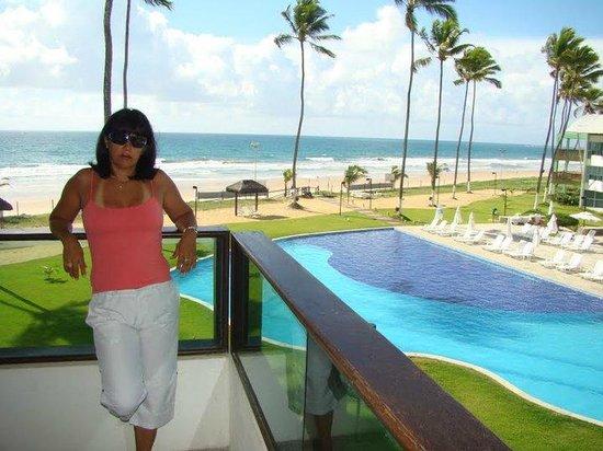 Dorisol Porto de Galinhas: varanda da suite de frente para o mar e piscina