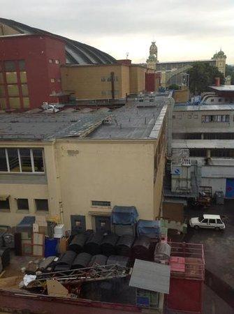 Vista desde la ventana del hotel Expo de Praga
