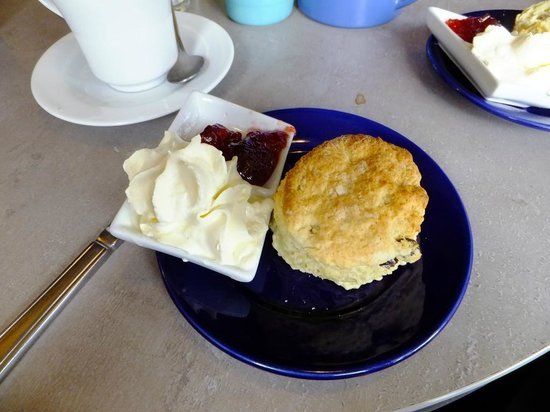 Ann's Pantry - scone with jam and cream