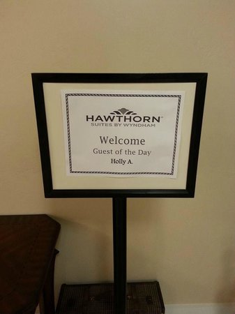 "Hawthorn Suites by Wyndham Salt Lake City-Fort Union: ""Guest of the day"" get goodies"