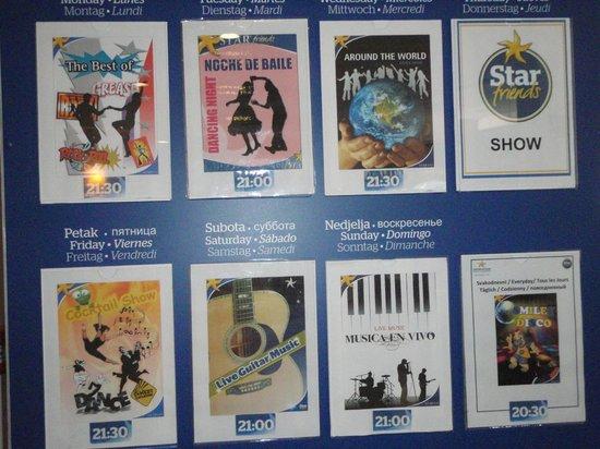 Remisens Hotel Albatros: Entertainment board