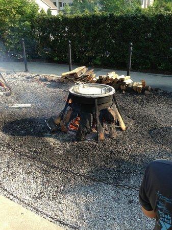 Pelletier's Restaurant & Fish Boil: Nearly ready