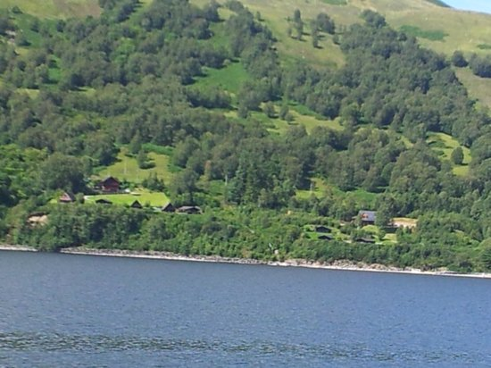 Highland Lodges : view from across the loch