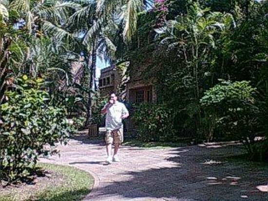 Villas El Rancho Green Resort: Jardines y caminitos muy limpios y bonitos.
