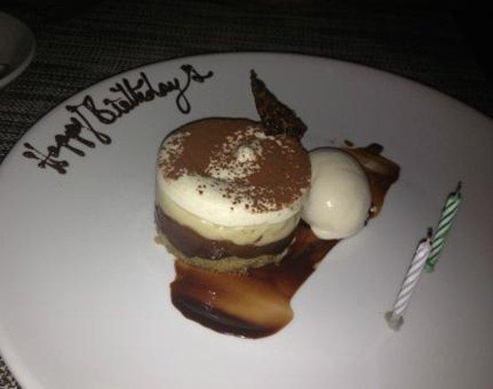 Hacienda Del Sol Guest Ranch Resort: Birthday Dessert