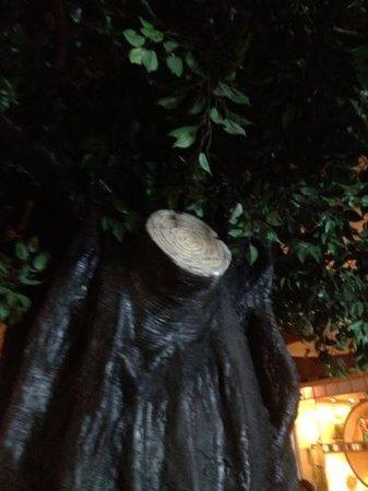 Fuji: Tree inside restaurant
