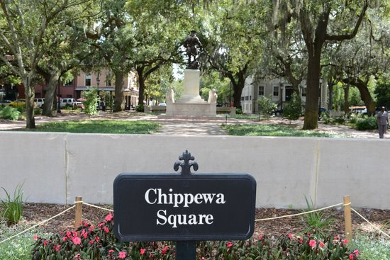 Chippewa Square : Forrest Gump location where the bench was in the movie.
