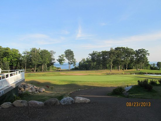 Apostle Highlands Golf Course: The view from the clubhouse.